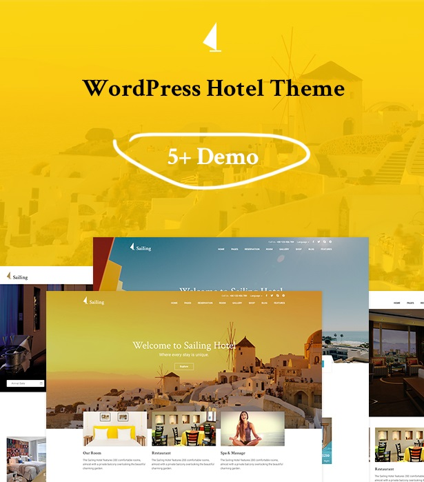 Hotel WordPress Theme – Sailing