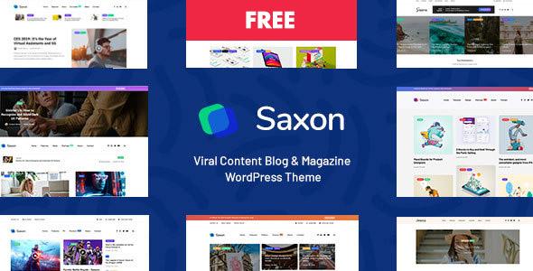 Saxon 1.5.1 - тема для журнала или блога